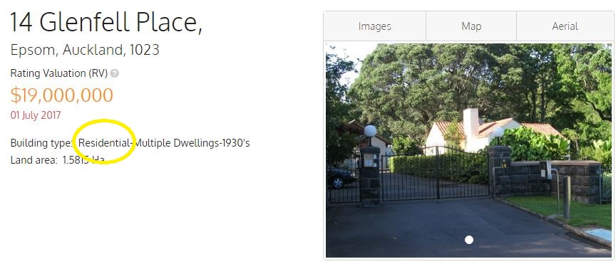 Screenshot of QV website showing Government House