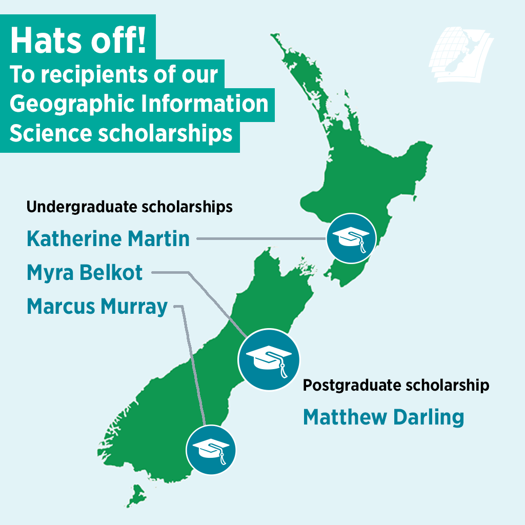 Hats off!  To recipients of our Geographic Information Science scholarships