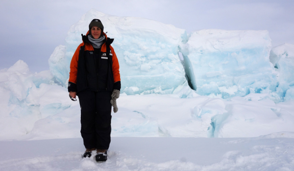 Photograph of Jennifer Coppola in Antarctica