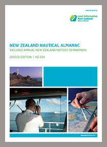 Front cover of New Zealand Nautical Almanac 2020/202 edition