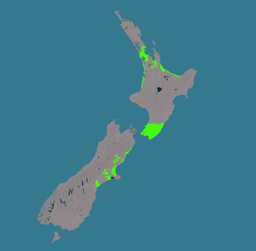 Elevation Data Land Information New Zealand LINZ - Map with elevation data