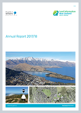 Front cover of LINZ Annual Report 2017/18