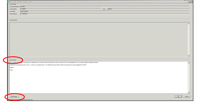 Screenshot of the 'New comment field' in the Pre-Validation tab