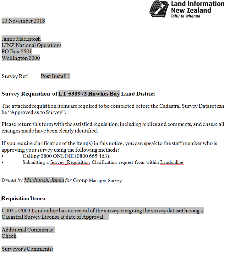 Screenshot of Rich Text Document showing greyed-out text areas