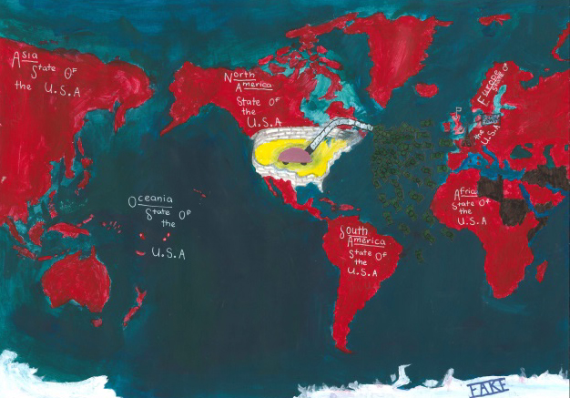 Trump's World, co-winner of the Creativity prize 2017 of the International Children's Map Competition