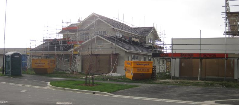 Image of house under construction