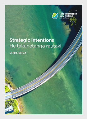 Cover of Strategic intentions - He takunetanga rautaki 2019-23