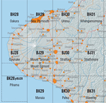 Topo50 map sheet index image