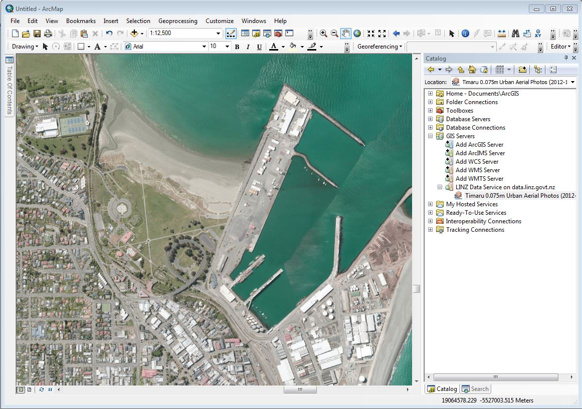 Screenshot of layer showing in ArcMap