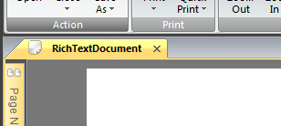 Screenshot of preview screen showing 'RichTextDocument' in window