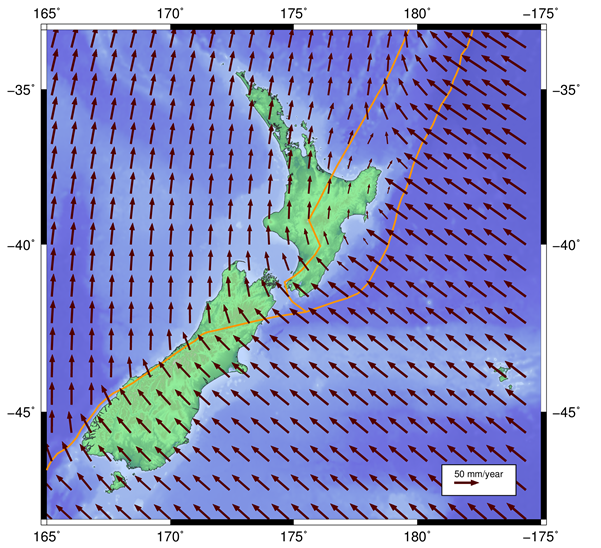 Deformation of New Zealand since 1 January 2000