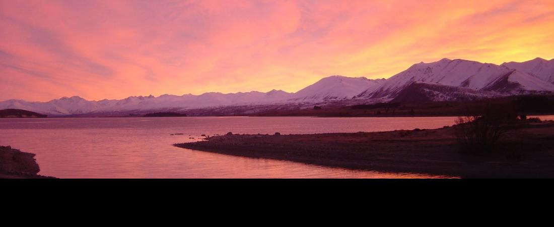 Sunset over Lake Tekapo