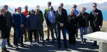 Minister O'Connor and representatives during the Jobs for Nature South Canterbury announcement