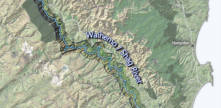map showing the extent of proposed Waihemo Shag River