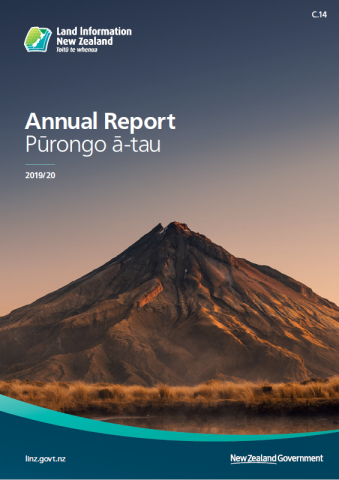 Annual Report Pūrongo ā-tau 2019/20 Cover