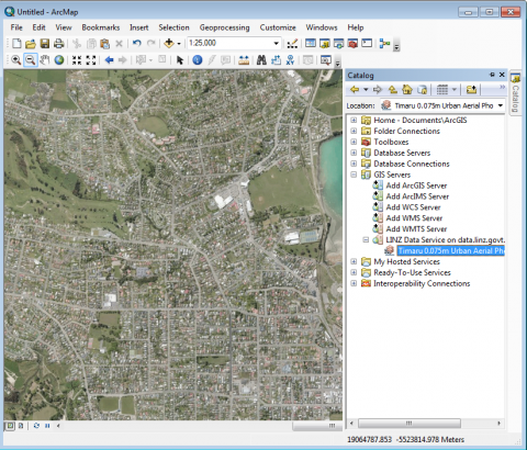 Using lds wmts in arcgis land information new zealand linz click and drag your layer on to the map to view the layer freerunsca Image collections