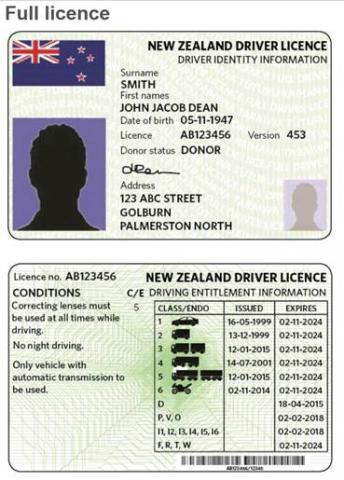 New Driver Licence Format