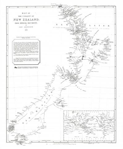 Map of the Colony of New Zealand by John Arrowsmith, 1841