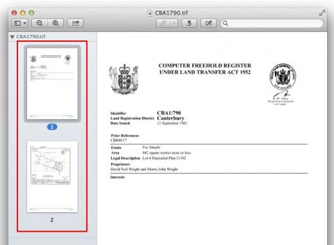 Document preview for Mac computer