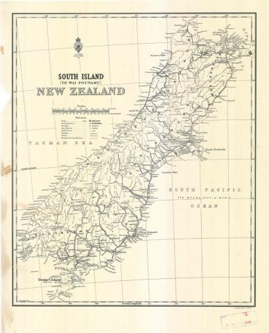 Examples of historic maps and charts English and Mori names for
