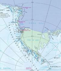 Map of the Ross Sea