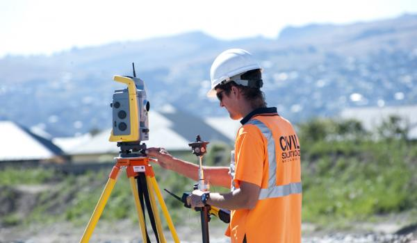 Surveyor in the field
