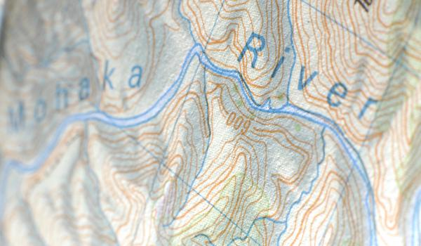 Topographic map of Mohaka River area