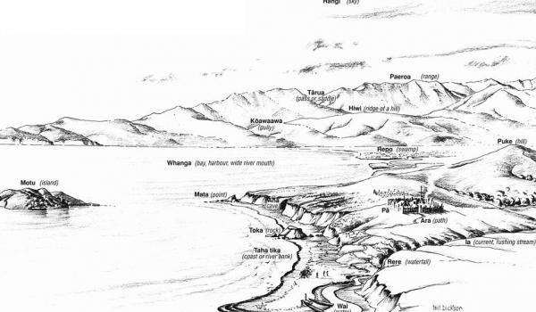 Place names land information new zealand linz historic image showing mori names and their geographic features publicscrutiny Choice Image