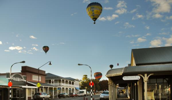Hot air balloons over Martinborough